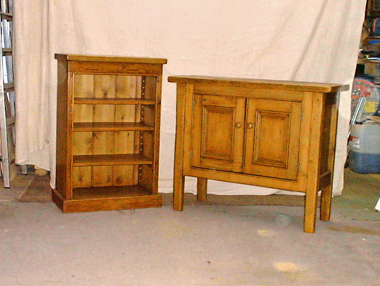 Small sideboard and bookcase